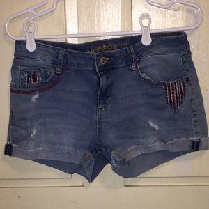 Arizona Jean Co. distressed jean shorts light wash